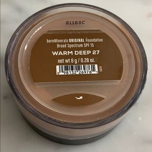 BareMinerals loose powder foundation warm deep 27